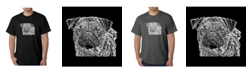 LA Pop Art Men's Word Art T-Shirt - Pug Face