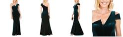 Betsy & Adam Petite Velvet Gown