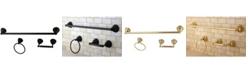 Kingston Brass Restoration 3-Pc. Towel Bar Bathroom Hardware Set
