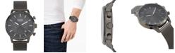 Versus by Versace Men's Chronograph Eugene Gunmetal Stainless Steel Mesh Bracelet Watch 46mm