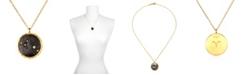 "Satya Jewelry Zodiac Diamond Gold 18"" Reversible Necklace"