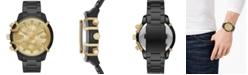Diesel Men's Chronograph Griffed Black Stainless Steel Bracelet Watch 48mm