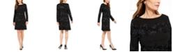 Jessica Howard Petite Metallic Flocked Velvet Dress