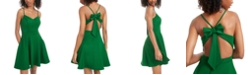 City Studios Juniors' Bow-Back Fit & Flare Dress