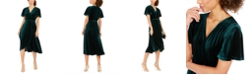 Vince Camuto Velvet Faux-Wrap Dress