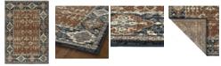 """Kaleen McAlester MCA03-53 Paprika 5'3"""" x 7'3"""" Area Rug"""