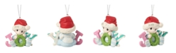 Ne'Qwa Precious Moments Baby's First Christmas Baby Boy In Santa Claus Hat 2019 Dated Christmas Ornament