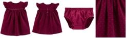 Carter's Baby Girls Dot-Print Corduroy Cotton Dress