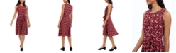 Charter Club Printed Tie-Waist Dress, Created For Macy's