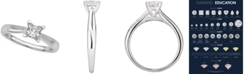 Macy's GIA Certified Diamond Princess Solitaire Ring (1/2 ct. t.w.) in 14k White Gold