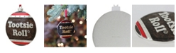 """Northlight 3.5"""" Silver Plated Tootsie Roll Candy Logo Christmas Ornament with European Crystals"""