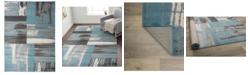 "Main Street Rugs Home Alba Alb370 Blue 3'3"" x 5' Area Rug"