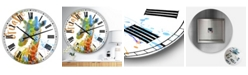 "Designart Colorful Safari Animals D Large Cottage Wall Clock - 36"" x 28"" x 1"""