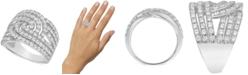 Macy's Diamond Open Row Statement Ring (2 ct. t.w.) in 10k White Gold