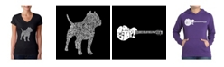 LA Pop Art Women's Word Art V-Neck T-Shirt - Pitbull