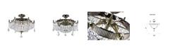 CWI Lighting Brass 6 Light Flush Mount