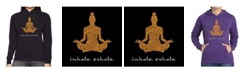 LA Pop Art Women's Word Art Hooded Sweatshirt -Inhale Exhale