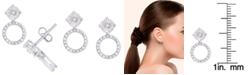 Macy's Diamond 1/5 ct. t.w. Round Drop Miracle Plate Stud Earrings in Sterling Silver