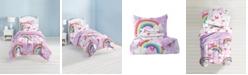 Dream Factory Unicorn Rainbow 7-Piece Full Bedding Set
