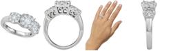 Macy's Diamond Triple Cluster Filigree Engagement Ring (1-1/2 ct. t.w.) in 14k White Gold