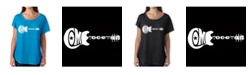 LA Pop Art Women's Dolman Cut Word Art Shirt - Come together