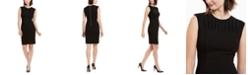 Calvin Klein Pleated-Neck Sheath Dress