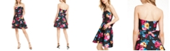Betsey Johnson Strapless Bow-Back Fit & Flare Dress