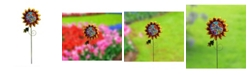 Creative Motion Painted Floral Metal Garden Stakes