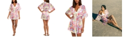 Miken Juniors' Tie-Dyed Chiffon Kimono Cover-Up, Created for Macy's