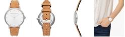 Rebecca Minkoff Women's Major Honey Studded Leather Strap Watch 35mm