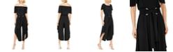 MSK Off-The-Shoulder Belted Jumpsuit