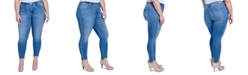 Seven7 Jeans Trendy Plus Size Splendor Embellished Step-Hem Skinny Jeans