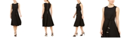 Calvin Klein Belted Fit & Flare Dress
