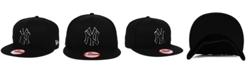 New Era New York Yankees Black White 9FIFTY Snapback Cap
