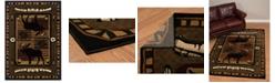 """Asbury Looms Designer Contours John Q. Wilderness Stream 512 25729 912 Terracotta 7'10"""" x 10'6"""" Area Rug"""