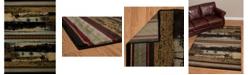 """Asbury Looms Designer Contours Cem Antler Lake 511 31860 28C Blue 2'7"""" x 7'4"""" Runner Rug"""