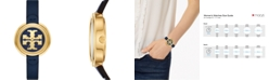 Tory Burch Women's The Miller Navy Leather Strap Watch 36mm