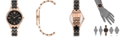 Anne Klein Women's Black Ceramic & Rose Gold-Tone Bracelet Watch 34.5mm