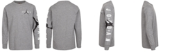 Jordan Big Boys Graphic-Print Long Sleeve T-Shirt