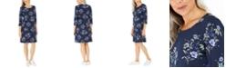 Karen Scott Floral-Print Dress, Created for Macy's