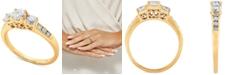 Macy's Diamond Three Stone Engagement Ring (1 ct. t.w.) in 14k Gold