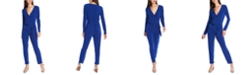 1.STATE Belted Surplice-Neck Jumpsuit