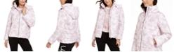 Calvin Klein Printed Hooded Puffer Jacket