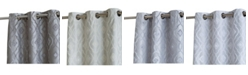 HLC.me Obscura Tweed Heads Trellis Flocked 100% Blackout Grommet Curtain Panels - Set of 2
