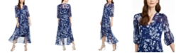 Calvin Klein Floral-Print Maxi Dress, Created for Macy's