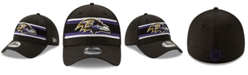 New Era Baltimore Ravens Striped Front Tech 39THIRTY Stretch Fitted Cap