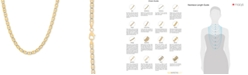 """Italian Gold Two-Tone Mariner Link 24"""" Chain Necklace"""