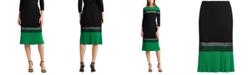 Lauren Ralph Lauren Three-Tone Colorblocked Skirt