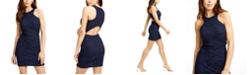 City Studios Juniors' Glitter-Lace Bodycon Dress