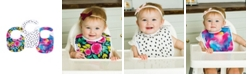 tiny twinkle Baby Boys and Girls Pack of 3 Painted Peony Feeder Bib Set